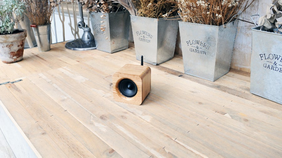 Image of Min623 portable bluetooth speaker-oak
