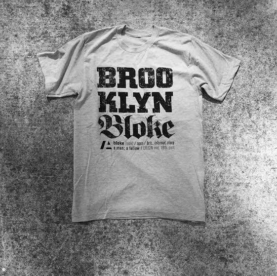 Image of BRKLN BLOKE Grey Script T