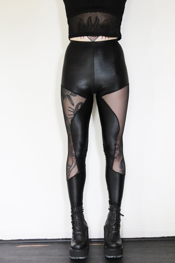 Image of Side Mesh Leggings