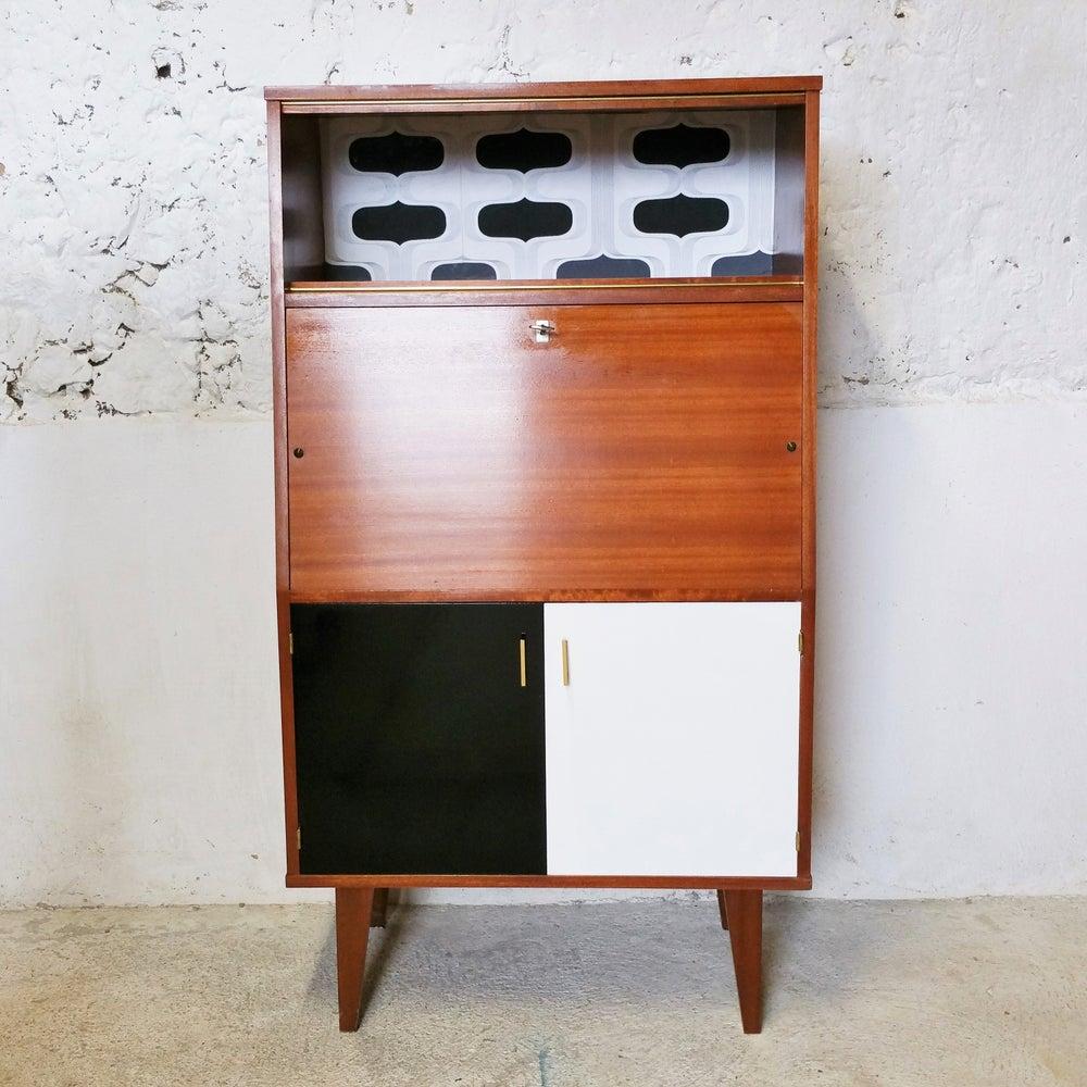 Image of Secrétaire 1970 noir/ blanc