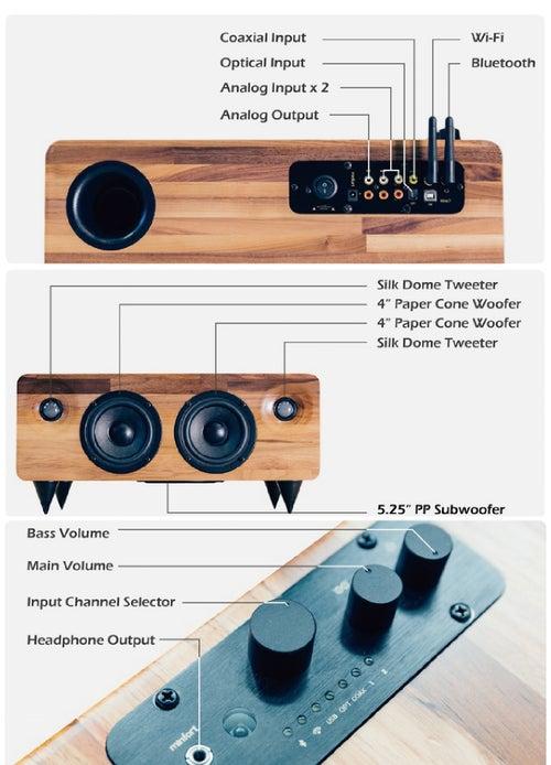 Image of MIN7 : The Multi-function Handmade Wooden Speaker-walnut