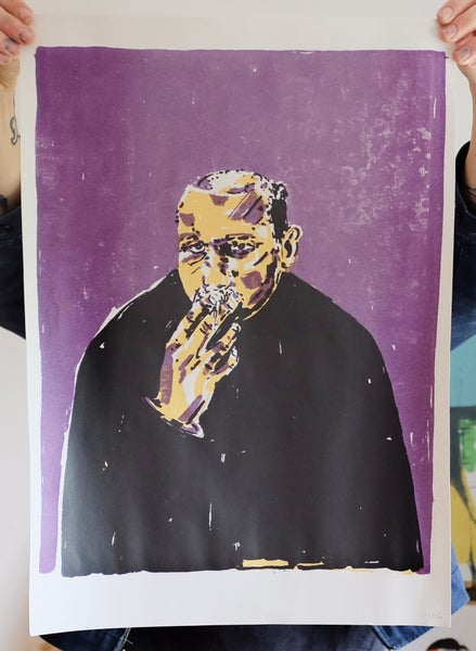 Image of 'Smoking Man' Print