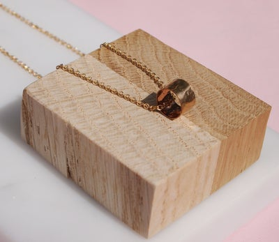Image of gold ring necklace
