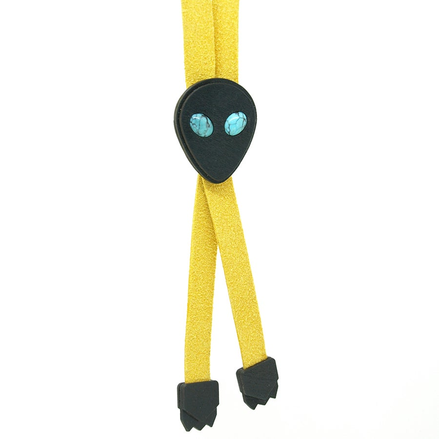 Image of Alien Bolo Tie w/ Turquoise eyes