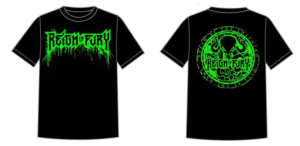 Image of ***NEW*** Day Glow Drip Logo T-shirt w/back print