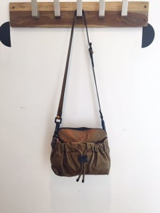Image of Burberry Bronze Metallic Calfskin Crossbody