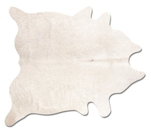 Image of 676685001047 Natural - Geneva Cowhide Rug Off White