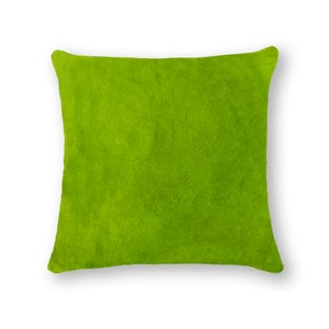 Image of 676685 Natural-Torino Cowhide Pillow 18x18 Lime
