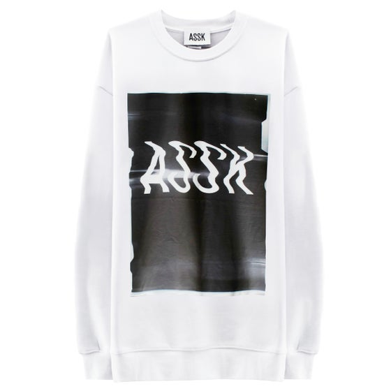 Image of GLITCH LOGO Sweatshirt - White