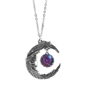 Image of Woman in the Moon Mood Charm Necklace