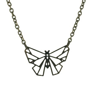 Image of Geometric Butterfly Necklace