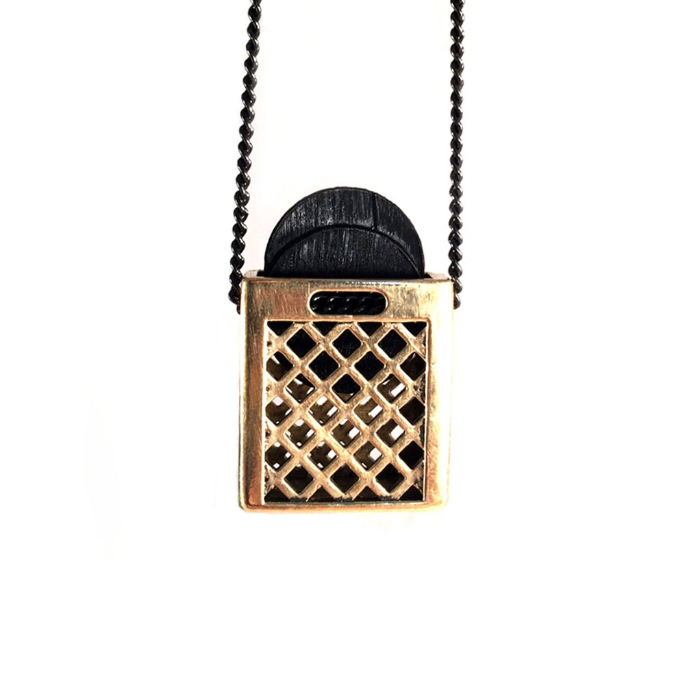 Image of Gold Crate Pendant