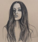 Image of Marti Jean with Necklace - Charcoal drawing