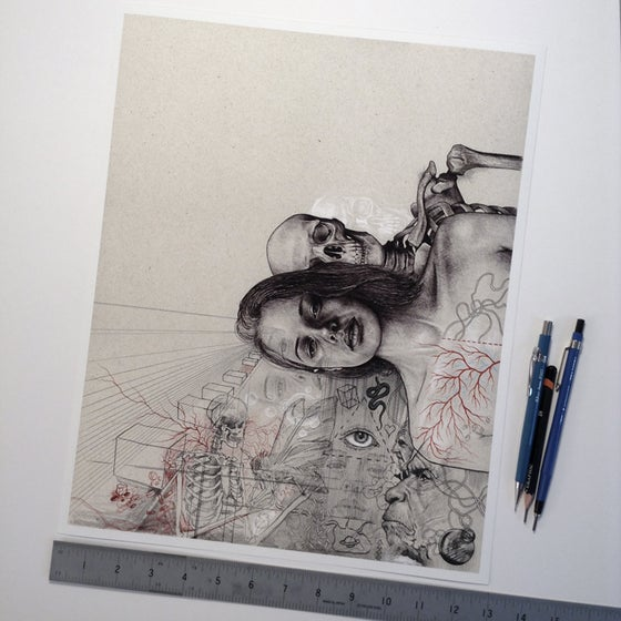 Image of 'The Lurker' Giclee Print.