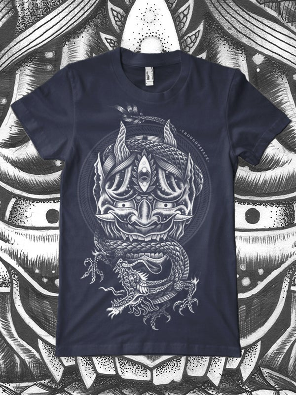 Image of Hannya/Dragon (Navy Blue)