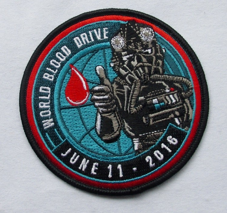 Image of World Blood Drive 2016 Tie Fight Pilot Patch 2 versions