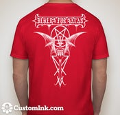 Image of Bikers For Satan T-Shirt White Logo