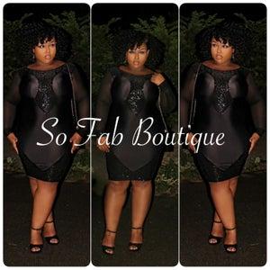 Image of Black Sequins Dress