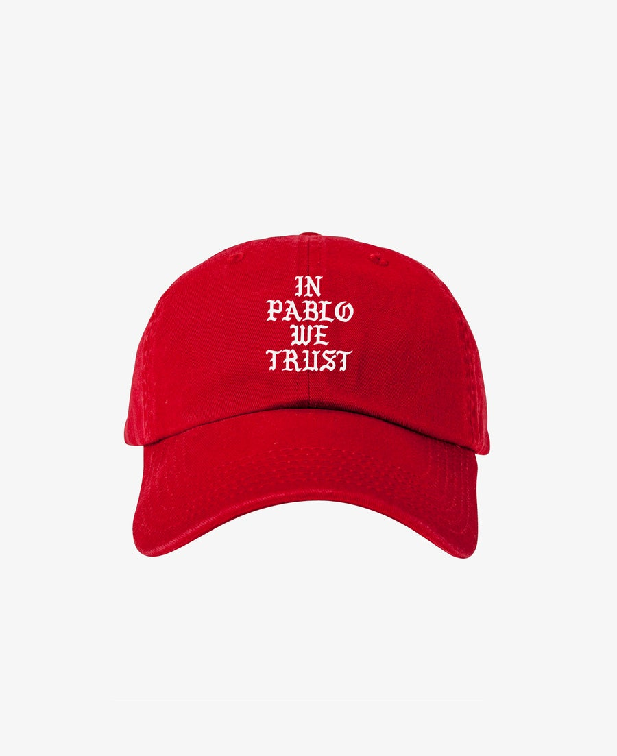 Image of IN PABLO WE TRUST CAP - RED