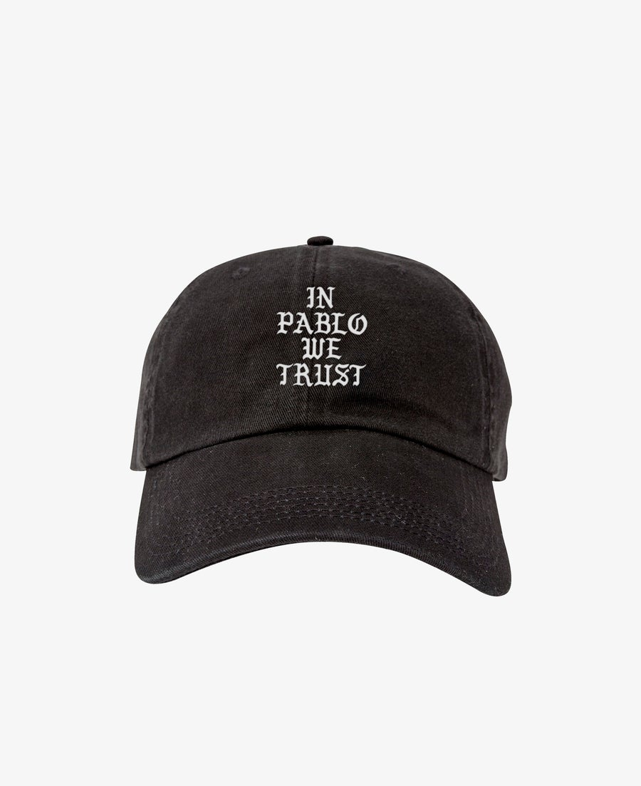 Image of IN PABLO WE TRUST CAP - BLACK