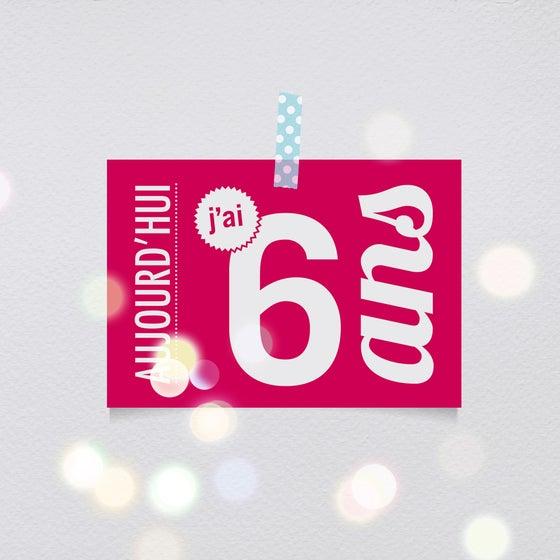 Image of 6 ans - Carte postale
