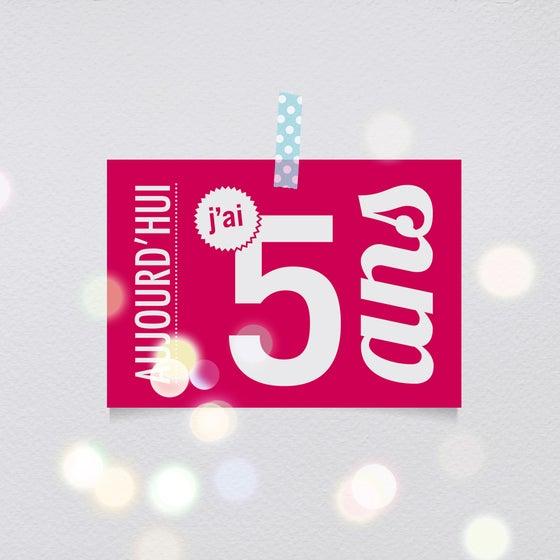 Image of 5 ans - Carte postale