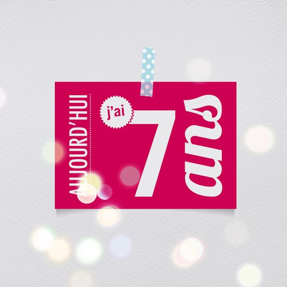 Image of 7 ans - Carte postale