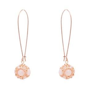 Image of Rose Quartz & Rose Gold Empire Earrings