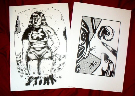 Image of A3 Riso prints ✿ STINX // Artist as Witch