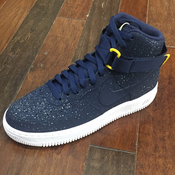 Image of NIKE AIR FORCE 1 NAVY SPLAT