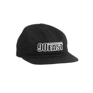 Image of 90East Hollow Logo Unstructured Hat Black