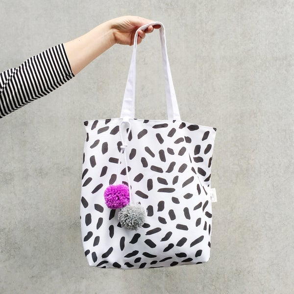 Image of The Pom Tote (CUSTOM POM COLOURS)