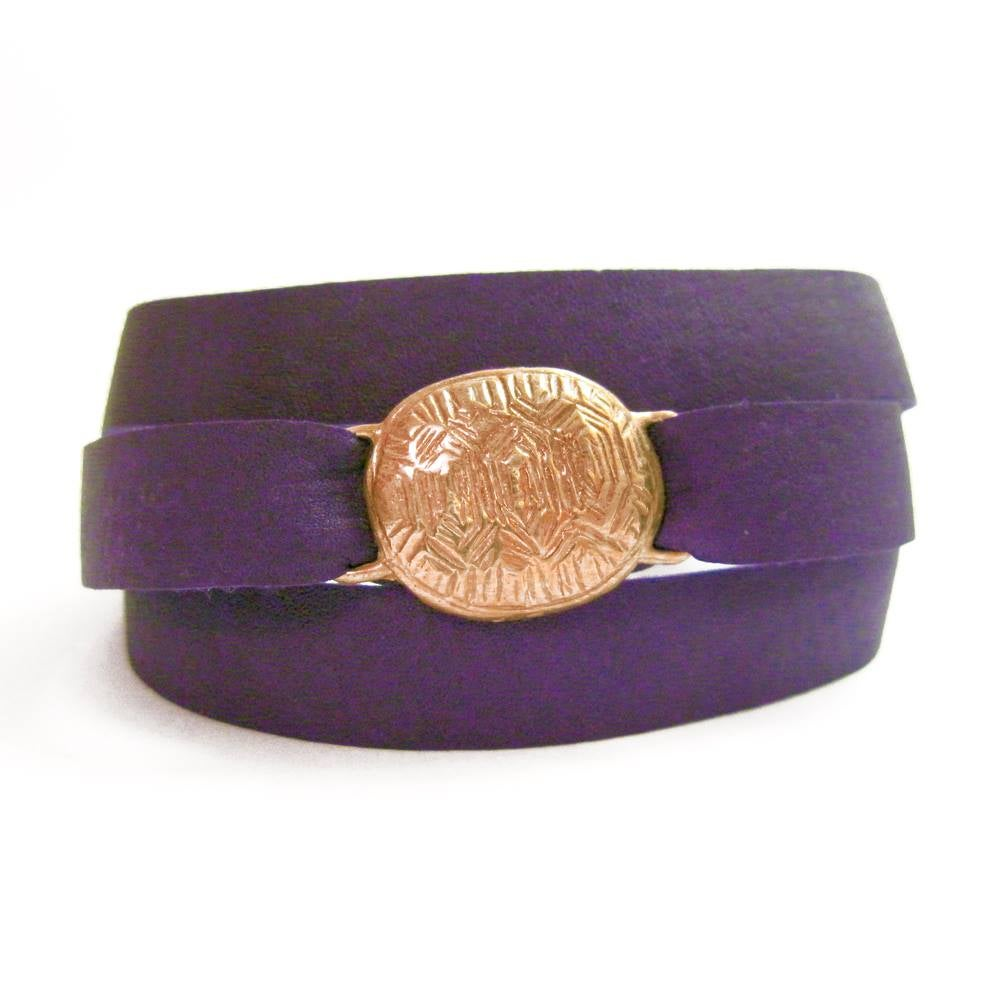 Image of Loksi (Turtle) Leather Wrap Bracelet