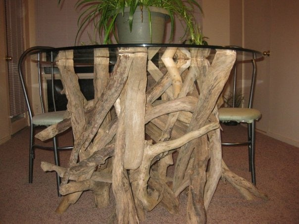 Driftwood Dining Table Base Round River Wood Design