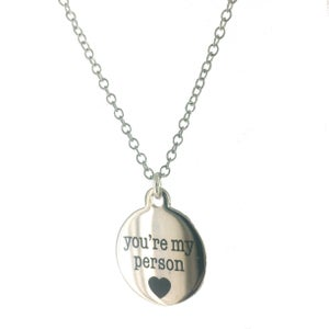 Image of You're my Person Token Charm Necklace