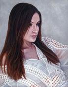 Image of Framed Original Painting - Vanessa in White Blouse