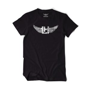 Image of Distressed LH Tee (White On Black)