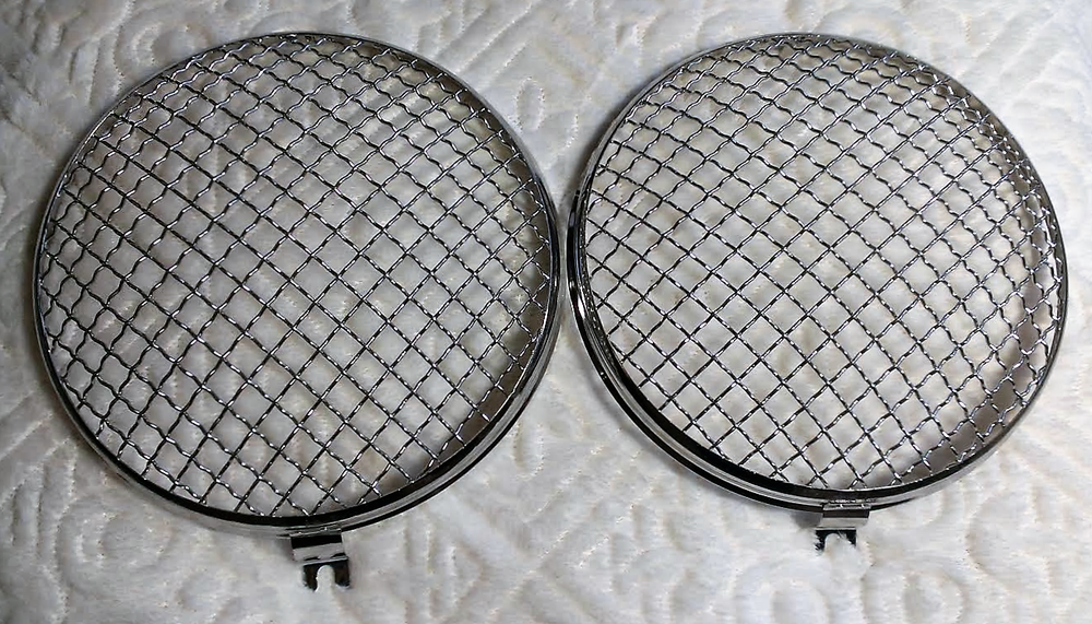 Image of VINTAGE STYLE MESH HEADLIGHT GRILLS (SET OF 2)
