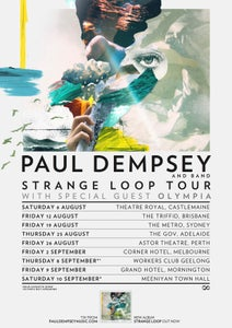 Image of Paul Dempsey 'Strange Loop' Tour Poster - -'Signed' or 'Unsigned'