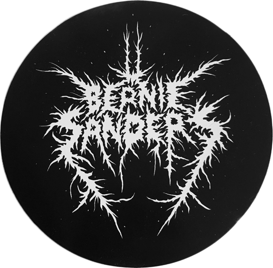 Image of Black Metal Bernie Sticker