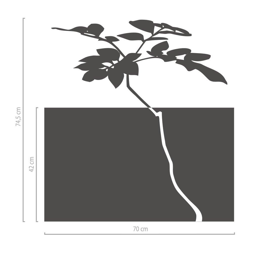 Image of Dekorativer Sichtschutz aus Glasdekorfolie Baum mit Blättern 2