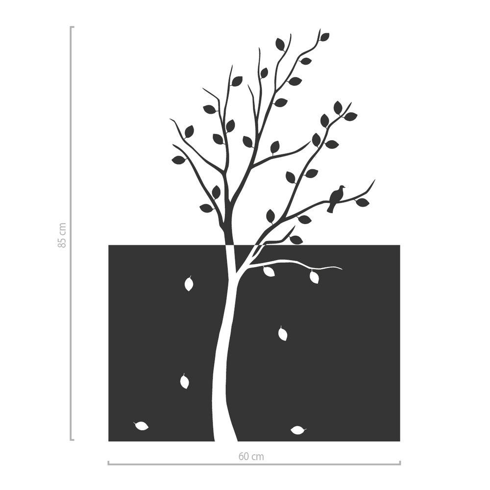 Image of Dekorativer Sichtschutz aus Glasdekorfolie Baum mit Blättern