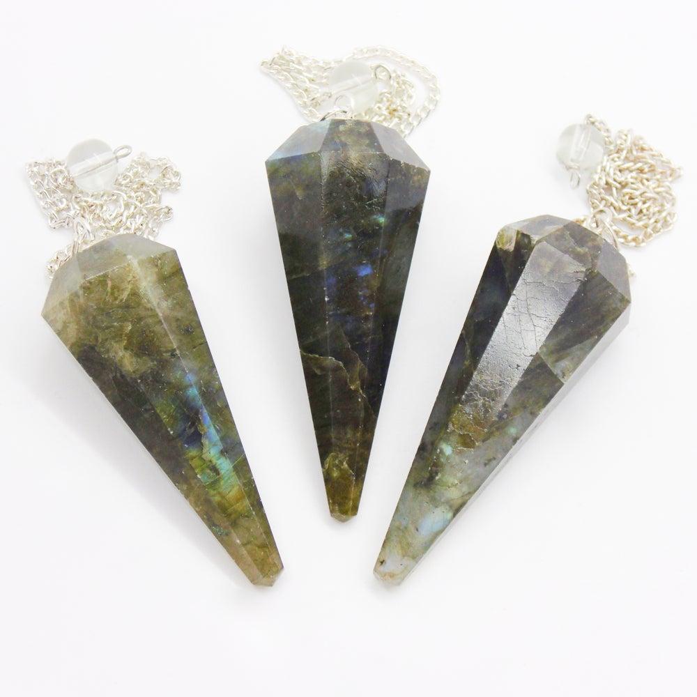 Image of Labradorite Crystal Pendulum