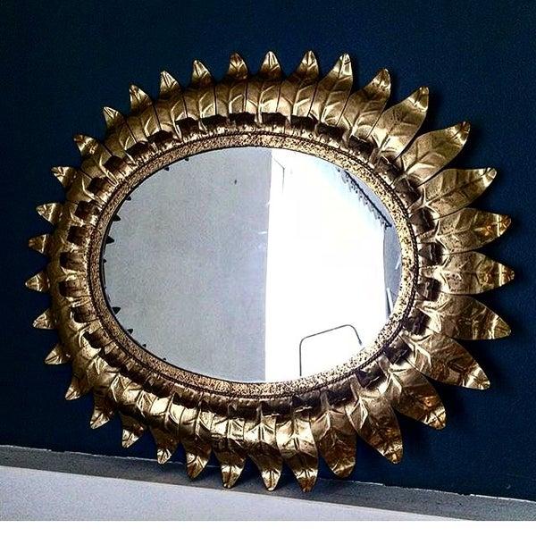 Image of King miroir feuille or