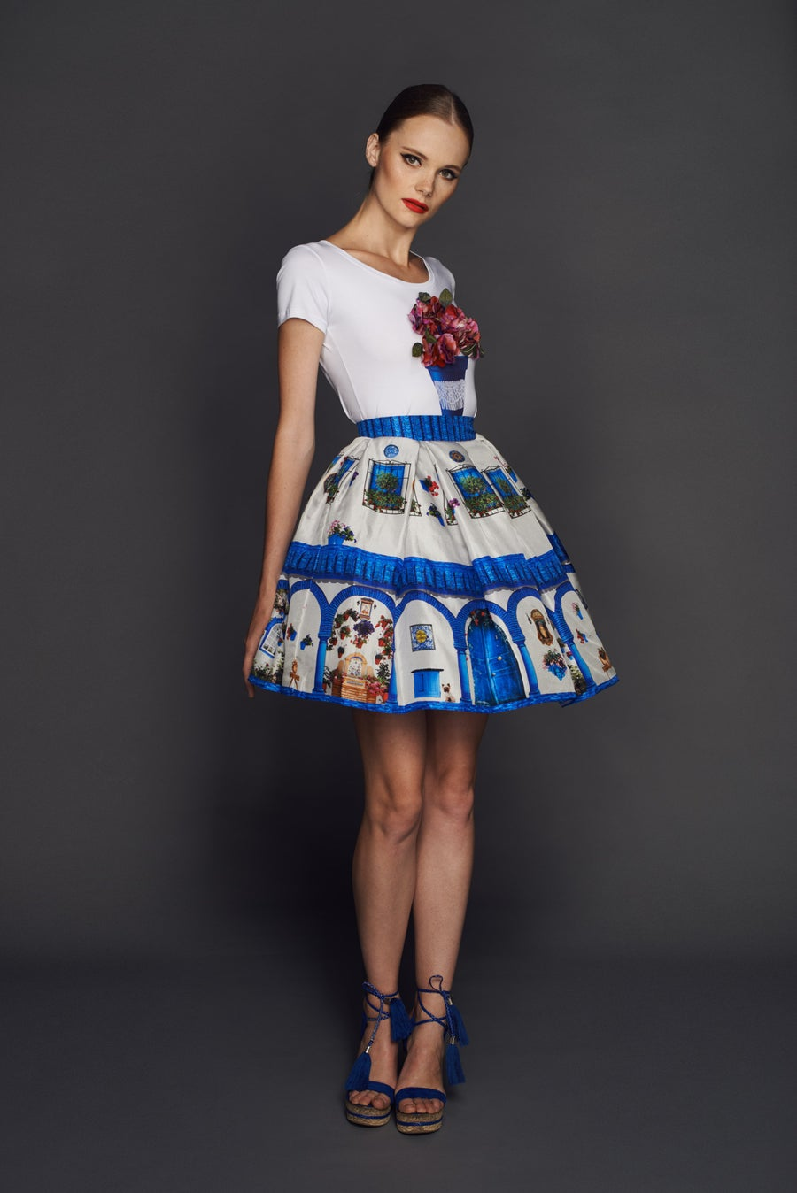 Image of Windows skirt from Andalusia collection