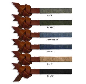 """Image of BROWN LEATHER """"ARROW KNOT"""""""