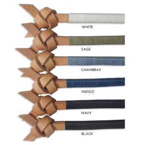 """Image of NATURAL LEATHER """"ARROW KNOT"""""""