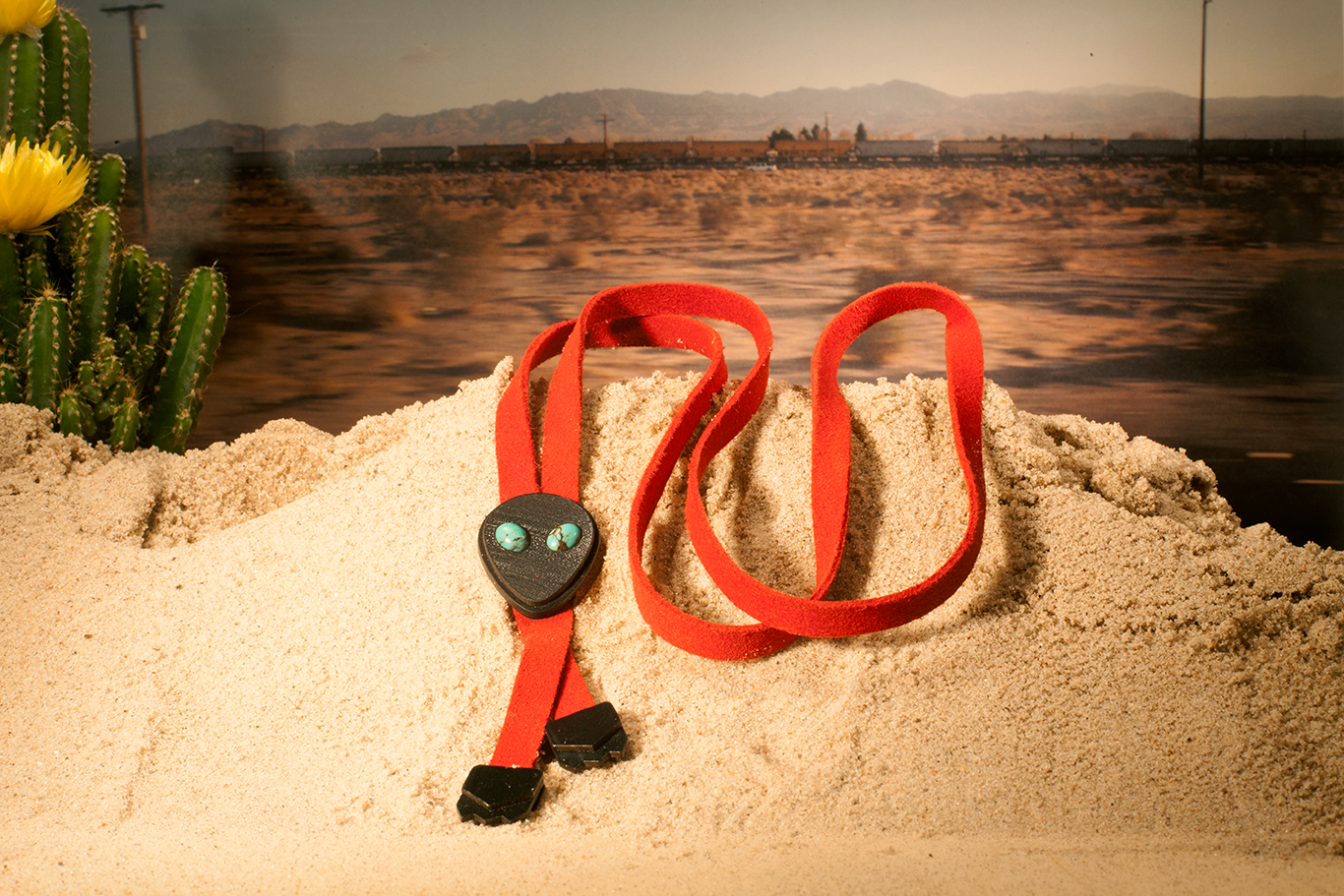 Image of Alien Bolo Tie w/ Turquoise eyes