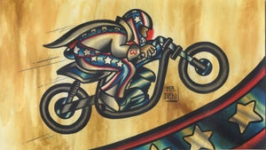Image of Evel Knievel print