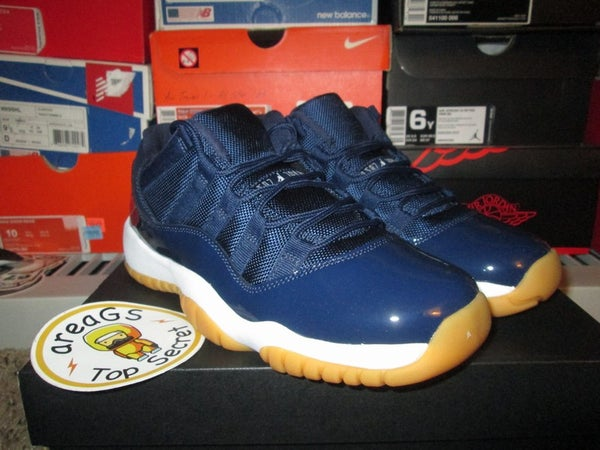 "Air Jordan XI (11) Retro Low ""Midnight Navy/Gum"" - areaGS - KIDS SIZE ONLY"